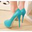 รองเท้าคัดชูส้นสูงเปิดหน้าสีเหลือง/ชมพู/ฟ้า/ครีม/เขียวอ่อน ไซต์ 34-43 thumbnail 3