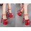 รองเท้าส้นสูง ไซต์ 34-40 สีดำ/แดง/ขาว thumbnail 6