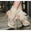 รองเท้าส้นสูงสีครีม/ดำ ไซต์ 34-38 thumbnail 2