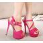 รองเท้าส้นสูงสีม่วง/ชมพู/น้ำเงิน/ดำ ไซต์ 34-39 thumbnail 10