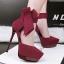 รองเท้าส้นสูง ไซต์ 34-39 สีดำ/แดง/เขียว/เทา thumbnail 3