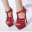 รองเท้าส้นสูง ไซต์ 35-40 สีดำ/แดง/ขาว thumbnail 4