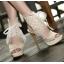 รองเท้าส้นสูงสีครีม/ดำ ไซต์ 34-38 thumbnail 3