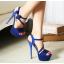 รองเท้าส้นสูงสีม่วง/ชมพู/น้ำเงิน/ดำ ไซต์ 34-39 thumbnail 3
