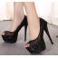 รองเท้าส้นสูง ไซต์ 34-40 สี : ทอง/เงิน/ดำ thumbnail 4