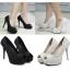 รองเท้าส้นสูง ไซต์ 34-39 สีดำ/ขาว thumbnail 1