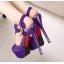 รองเท้าส้นสูงสีม่วง/ชมพู/น้ำเงิน/ดำ ไซต์ 34-39 thumbnail 9