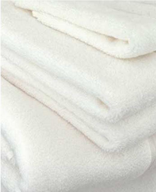 ผ้าห่มขนหนู ด้ายคู่ 60*80นิ้ว สีขาว 32ปอนด์ ผืนละ 355 บาท ส่ง 60 ผืน (Cotton100% งานไทย)