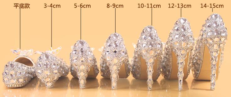 รองเท้าเจ้าสาว ไซต์ 34-42 ส้นสูง 4,6,9,11,13,15 ซม.