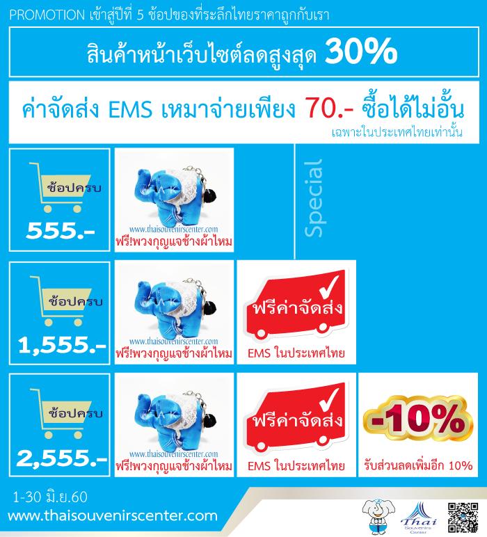 โปรโมชั่นฉลองเข้าสู่ปีที่ 5 thaisouvenirscenter