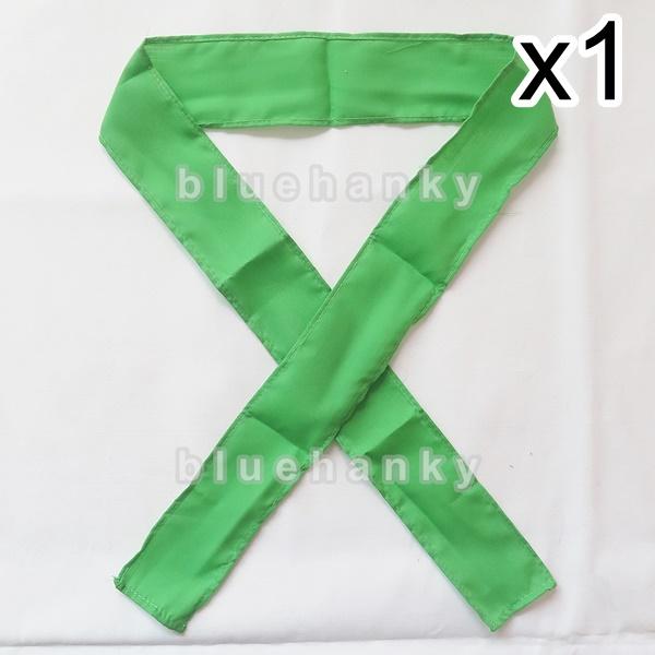 ผ้าคาดหัว พันข้อมือ พันแขน 5*110ซม สีเขียวตอง