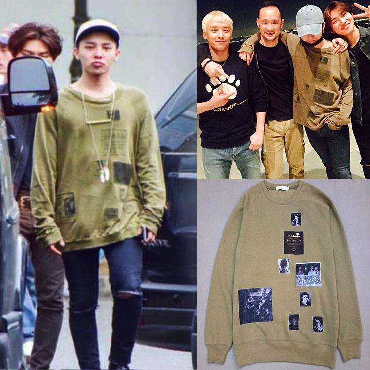 เสื้อแขนยาว G-Dragon Sty.Raf simons Green -ระบุไซต์-