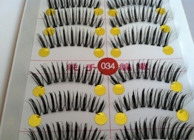 V-034 ขนตาเอ็นใส(ขายปลีก) เเพ็คละ 10 คู่