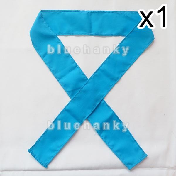 ผ้าคาดหัว พันข้อมือ พันแขน 5*110ซม สีฟ้า
