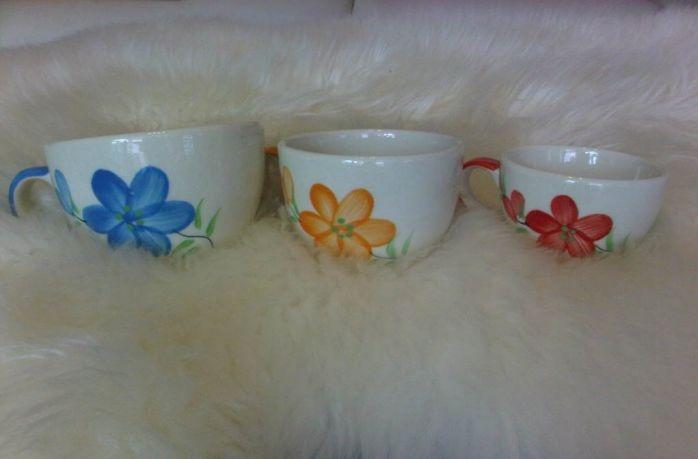 ของชำร่วยถ้วยกาแฟเพ้นดอกไม้