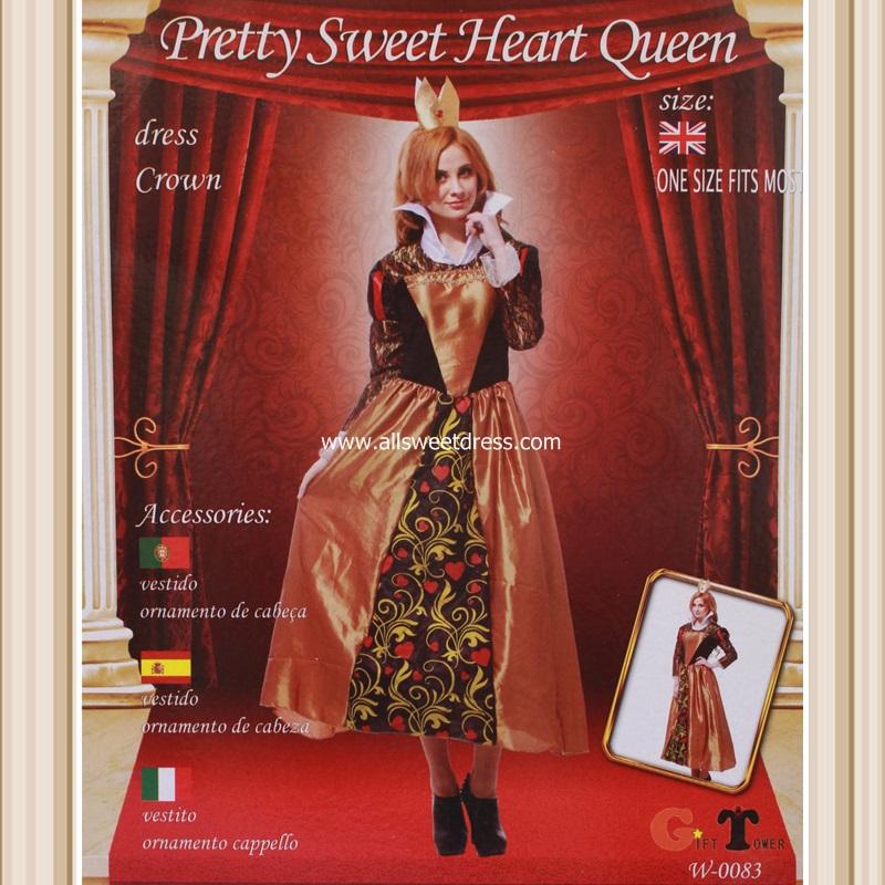 เช่าชุดแฟนซีเจ้าหญิง alice in wonderland สีดำ แดง ทอง สวยหรู