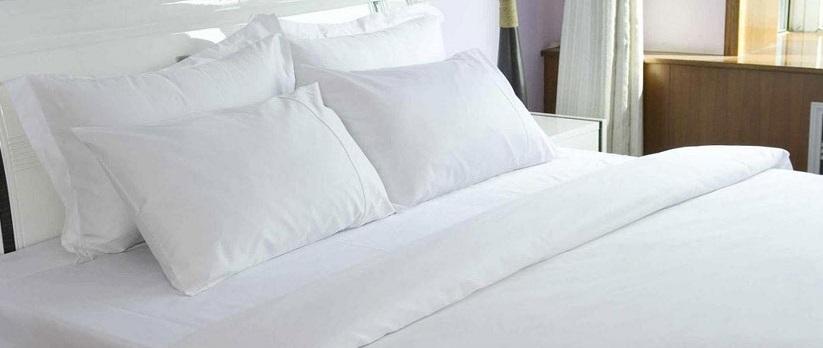 ปลอกหมอนหนุน ผ้าCotton100% 250เส้นด้าย สีขาว ใบละ 95 บาท ส่ง 40ใบ
