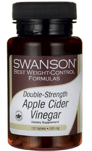Swanson Apple Cider Vinegar 200mg 120 Tablets ควบคุมน้ำหนัก ระบบขับถ่ายดี ปรับสมดุลให้กับร่างกาย