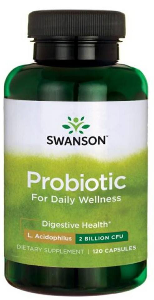 Swanson Probiotics for Daily Wellness 120 Capsules จุลินทรีย์โปรไบโอติกแลคโตบาซิลลัส