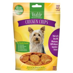 Vitalife Chicken Chip (สันในไก่อบแห้งแบบกลม)