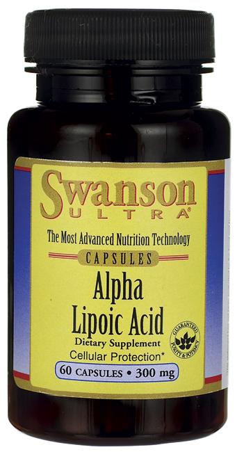Swanson Alpha Lipoic Acid 300 mg. 60 Capsule สุดยอดอาหารเสริมต้านอนุมูลอิสระ ลดการอักเสบและรอยแดงจากสิว