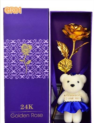 GR01G ดอกกุหลาบสีทอง