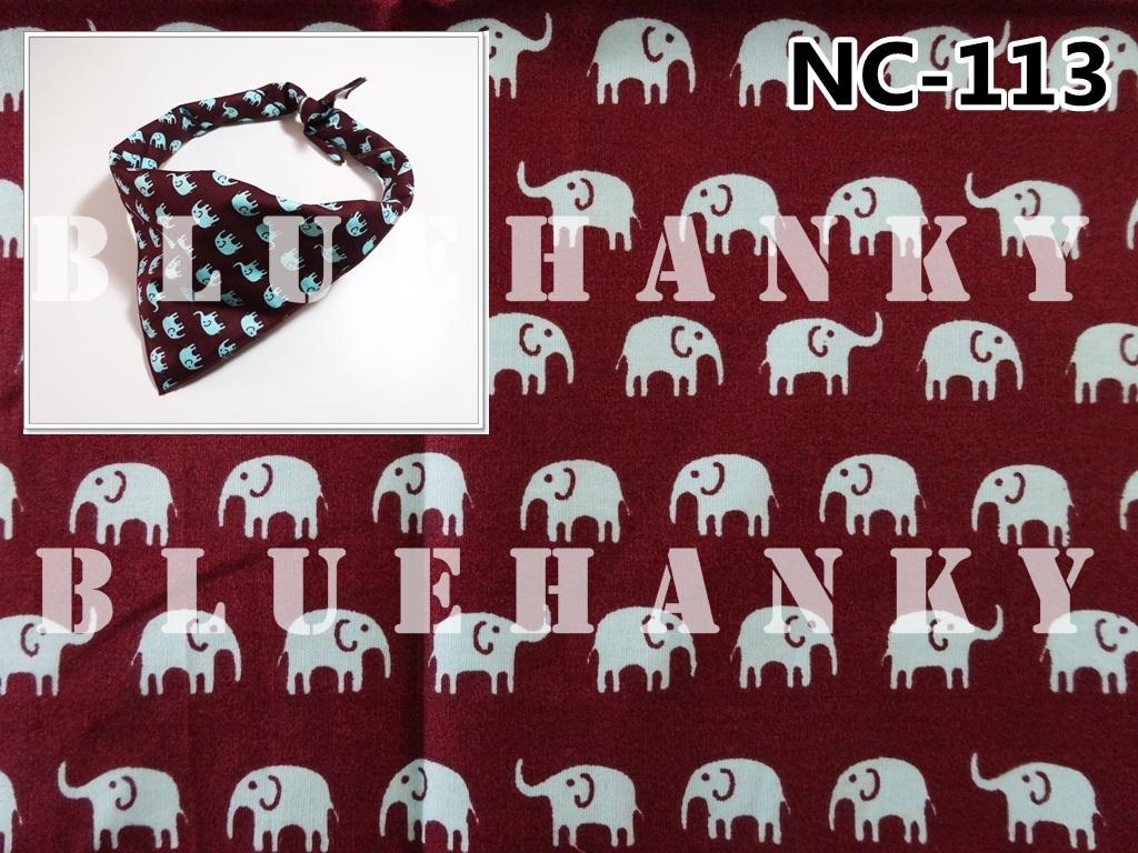 NC113 ผ้าพันคอลายช้าง ผืนใหญ่ใช้คาดหัว พันคอ