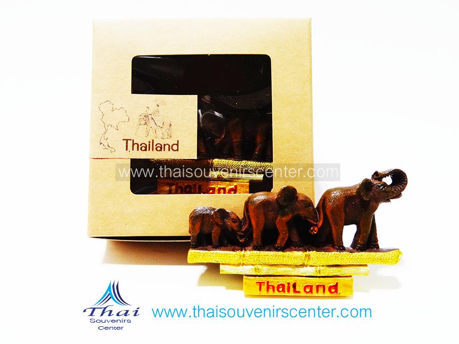 ของที่ระลึกไทย ที่ติดตู้เย็น ช้างไทย แบบ 98 ครอบครัวช้าง