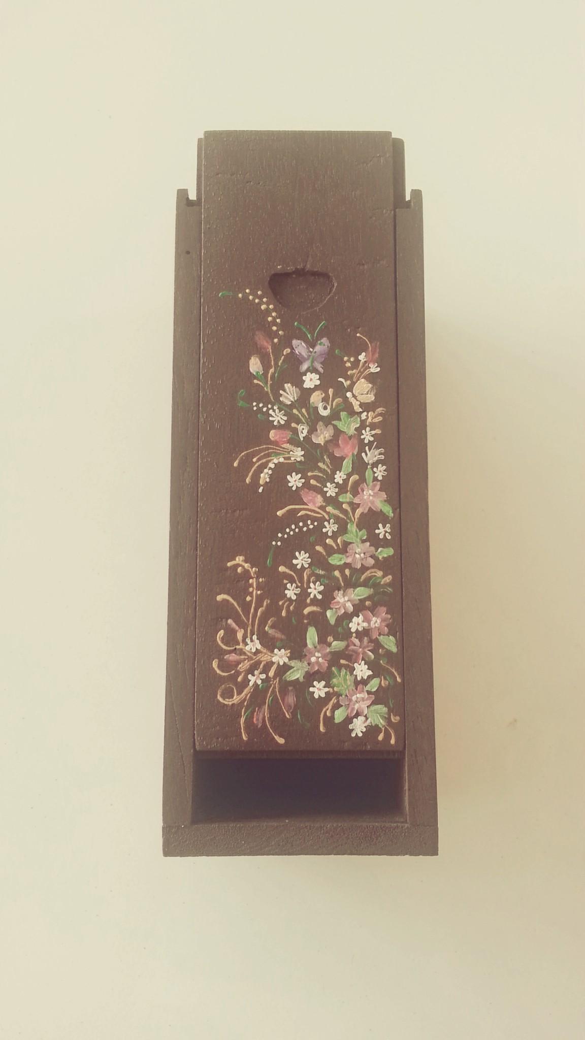 กล่องไม้สยาแดง (เพ้นท์ลายศิลป์)