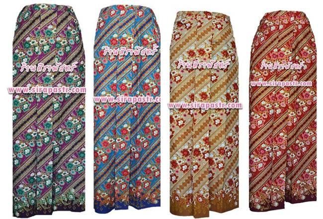 """ผ้าถุงป้ายเชิงหน้านาง อินโดนีเซีย/ภาคใต้-A2 เอวใส่ได้ถึง 36"""" (*ตามรายละเอียดสินค้าในหน้าฯ))"""