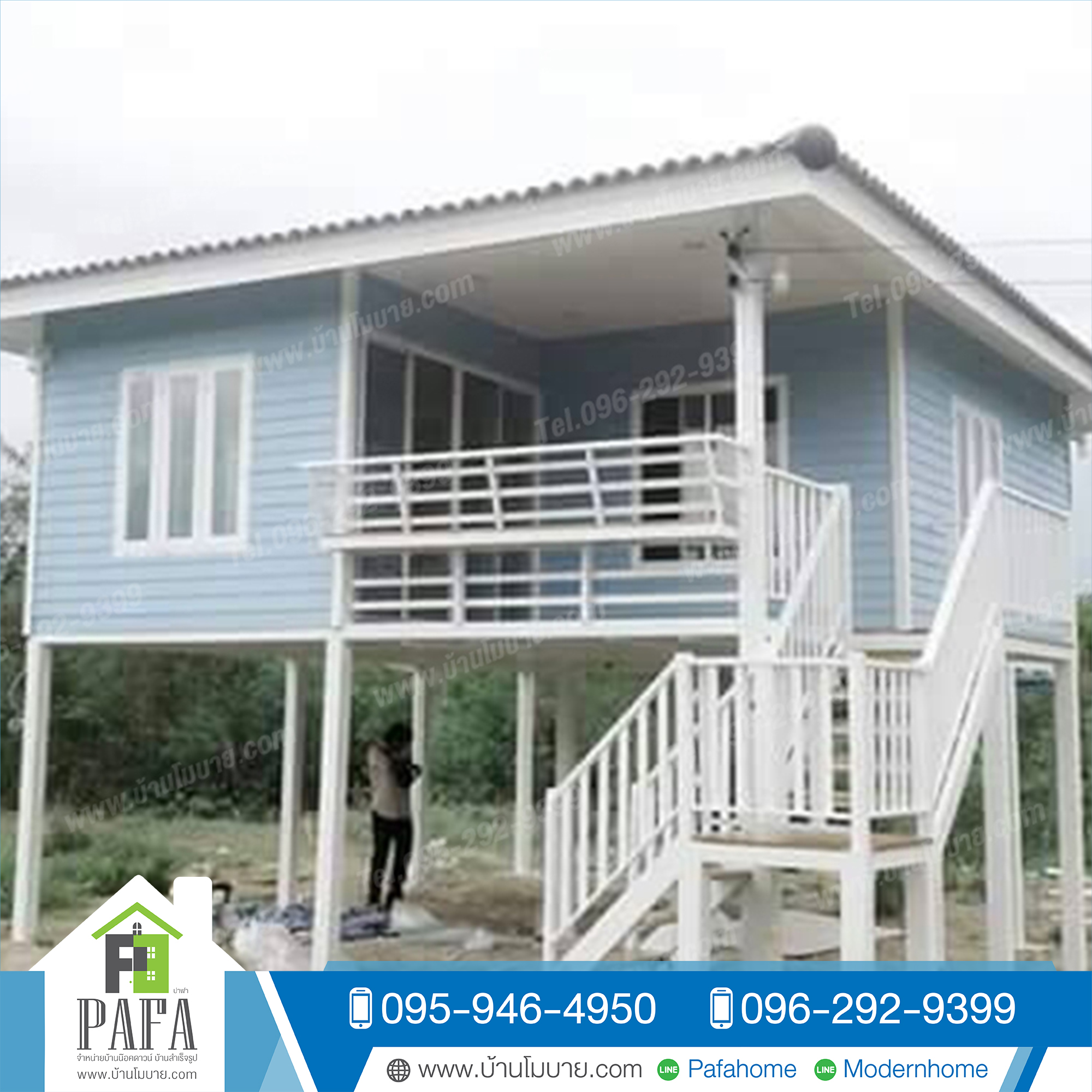 บ้านขนาด 6*7 เมตร พร้อมระเบียง 3*2.5 เมตร 1ห้องนอน 2ห้องโถง 1ห้องน้ำ ราคา 475,000 บาท