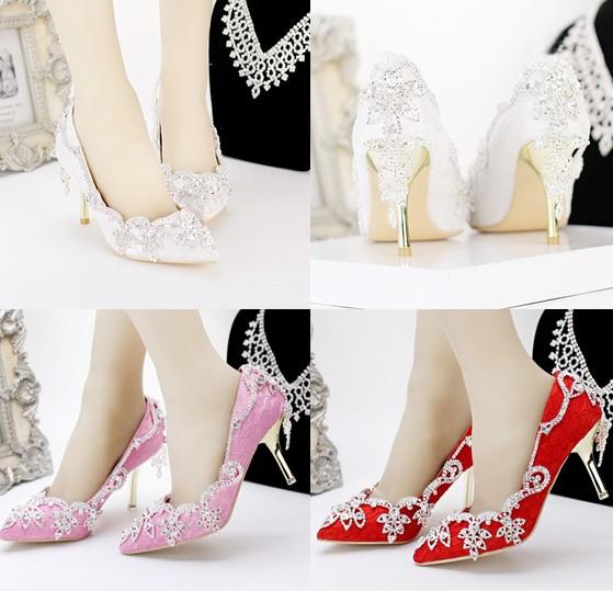 รองเท้าเจ้าสาว ไซต์ 34-39 ส้นสูง 7,9 ซม.