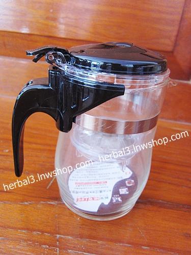 กาชงชา แบบมีไส้กรอง (แบบใส) ขนาด 550 ml.
