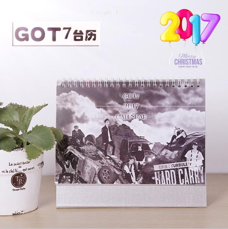 ปฏิทินตั้งโต๊ะ 2017 GOT7 Hard Carry
