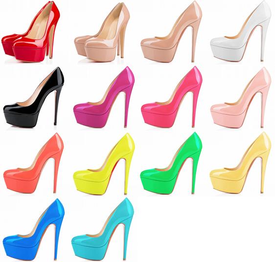 รองเท้าคัดชูส้นสูงทรงสวยเป๊ะ ไซต์ 34-42 สีดำ/แดง/ขาว/นู๊ด/เหลืองเข้ม/เหลืองอ่อน/เขียว/ชมพูเข้ม/ชมพูอ่อน/ชมพูอมม่วง/ส้ม/ฟ้าเข้ม/ฟ้าอ่อน