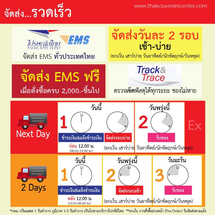 วิธีการจัดส่ง thaisouvenirscenter