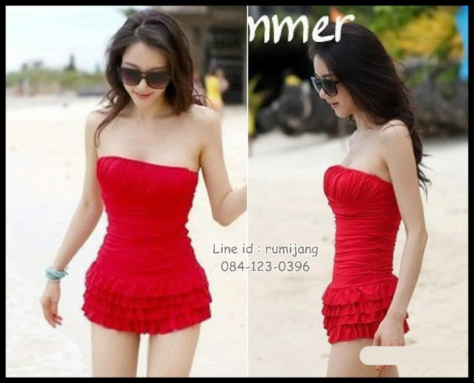 Happy Summer 004 สีแดง ไซส์ L