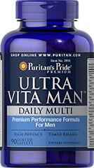 Ultra Vita Man 90 เม็ด วิตามินรวมสำหรับผู้ชายยี่ห้อ Puritan's Pride