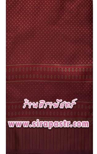 ผ้าลายไทย 01-F3 สีเลือดหมู *เลือกแบบ / รายละเอียดตามหน้าสินค้า