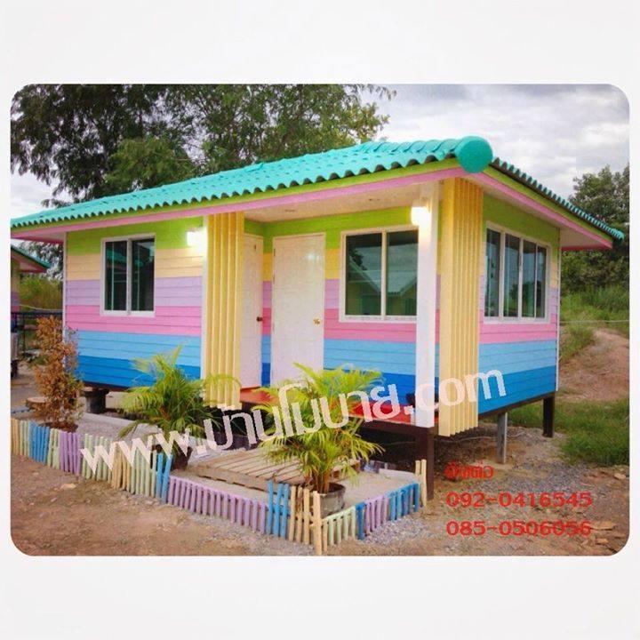 บ้านน็อคดาวน์ บ้านโมบายทรงปั้นหยา ขนาด 4*6 เมตร