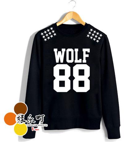 HOOD STAR WOLF88-BLACK[ระบุไซต์]