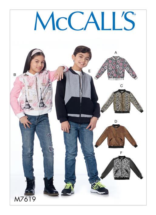 แพทเทิร์นตัดเสื้อกันหนาวเด็ก Mccalls 7619 Size: 3-4-5-6 ขวบ