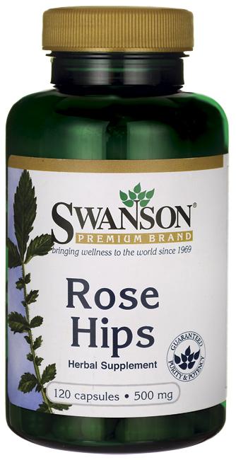 Swanson Premium Rose Hips 500 mg. 120 capsules ลดสิว ลดรอยสิว รอยแดง ลดจุดด่างดำ ลดริ้วรอย ปรับผิวให้ขาวใส สุขภาพดี
