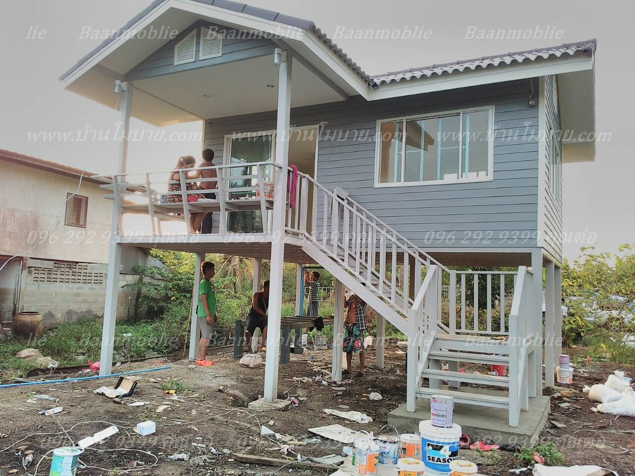 บ้านขนาด 4*6 ระเบียง 3*3 เมตร ราคา 381,000 บาท