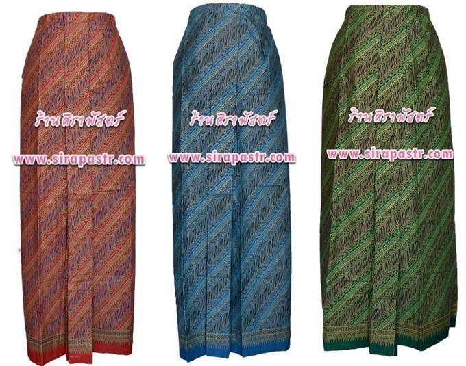 """ผ้าถุงป้ายเชิงหน้านาง อินโดนีเซีย/ภาคใต้ BA-1 เอวใส่ได้ถึง 35"""" (*ตามรายละเอียดสินค้าในหน้าฯ)"""