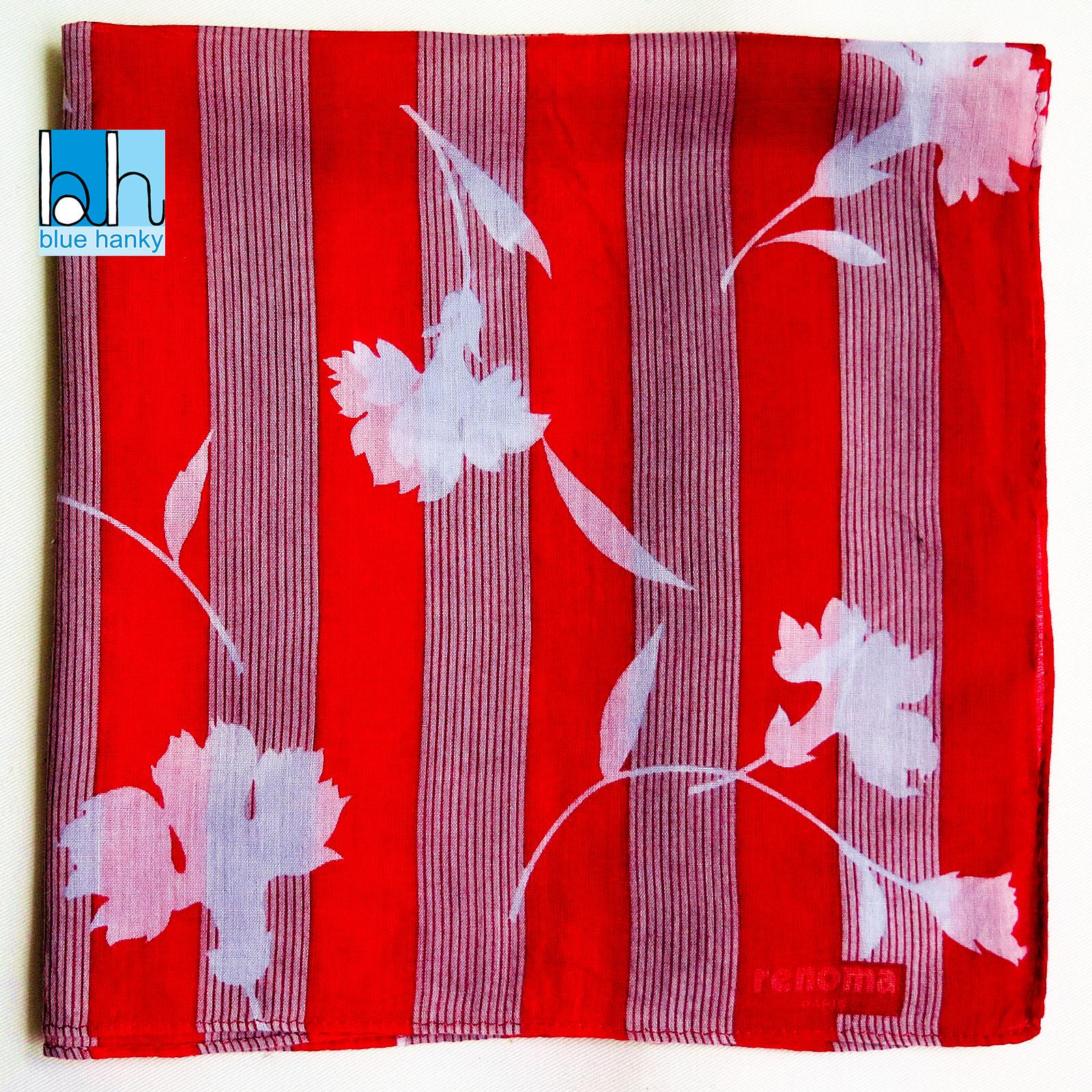 """#224 19"""" renoma ผ้าเช็ดหน้ามือ2 สภาพดี ผ้าเช็ดหน้าผืนใหญ่"""