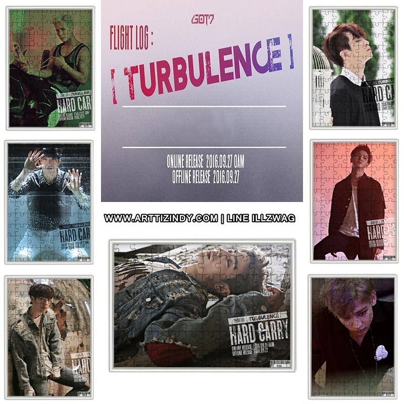 จิ๊กซอ+กรอบรูป GOT7 TURBULENCE - HARD CARRY (A) -ระบุสมาชิก-