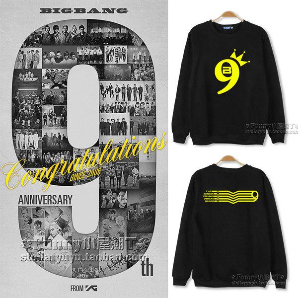 เสื้อแขนยาว 9th BIGBANG IS VIP -ระบุสี/ไซต์-