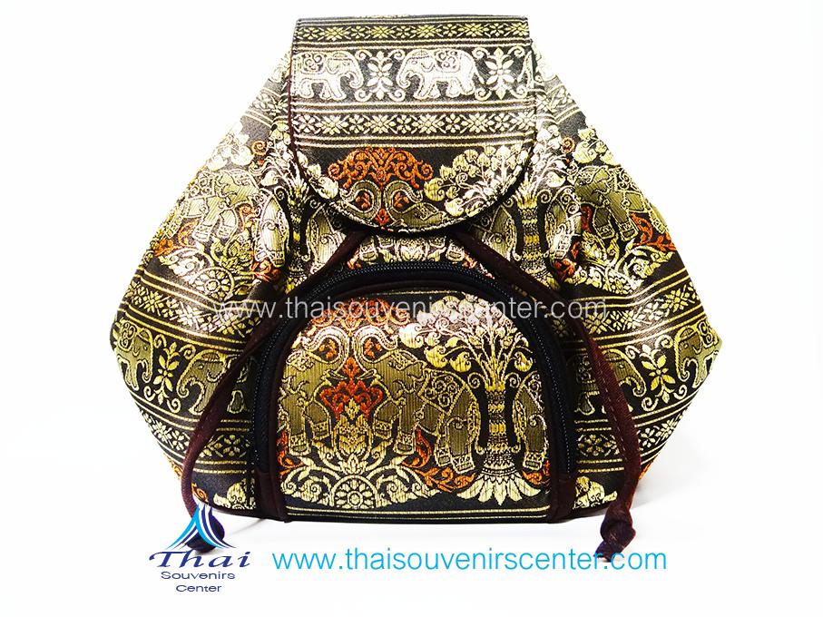 ของฝากจากไทย กระเป๋าเป้ช้าง แบบ 13 สีน้ำตาลเข้ม