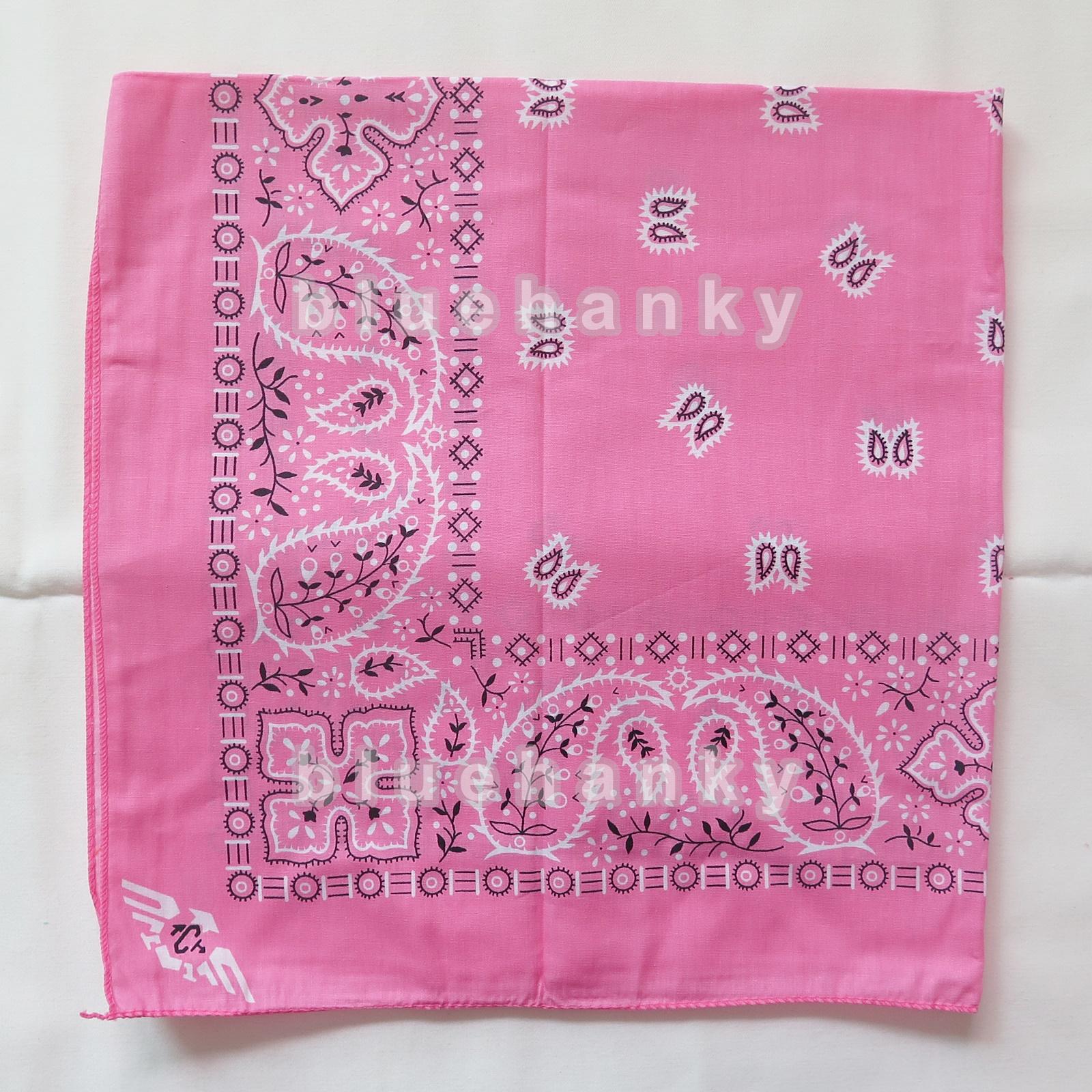 ผ้าพันคอBandannasไซส์บิ๊ก 28นิ้ว สีชมพูอ่อน
